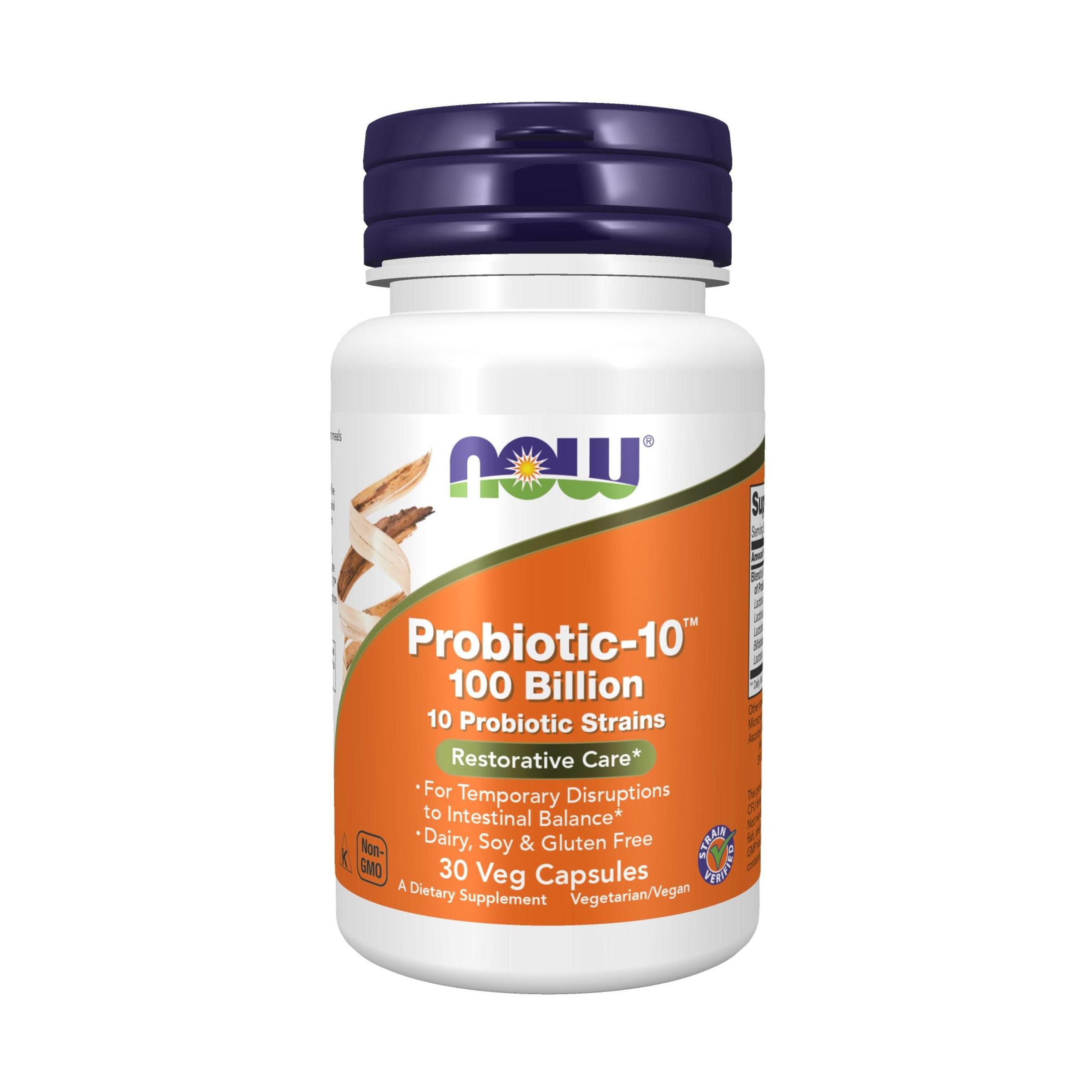 나우푸드 프로바이오틱-10 유산균 100 빌리언 베지 캡슐, 30개입, 1개