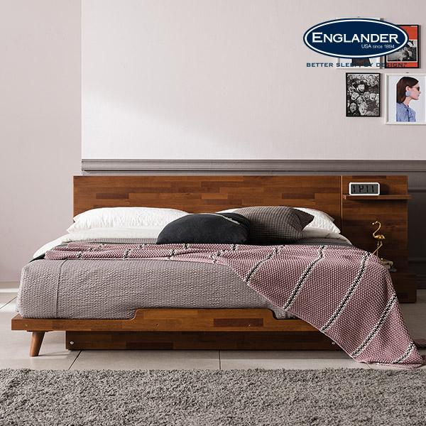 잉글랜더 피칸 멀바우 평상형 침대(매트제외-라지킹), 멀바우 브라운