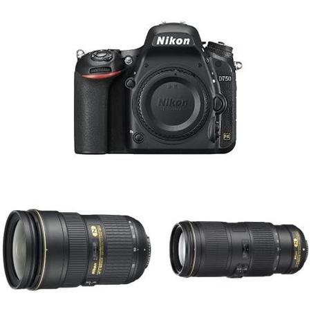 Nikon D750 DSLR Camera w Nikkor 24-70mm F2.8 and Nikkor 70-200 F4 VR Lens Bundle PROD1100002220, 상세 설명 참조0