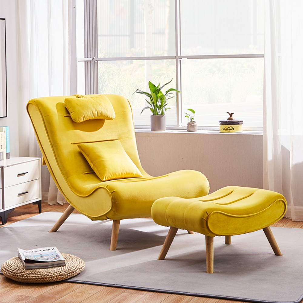 발받힘 디자이너 의자 북유럽 소파 1인용 달팽이 의자 침대 발코니 베란다 임스라운지체어 이몰라체어 이케아스트란드몬 로제까사안락의자 이케아펠로, 싱글의자+발 디딤돌베개(비고