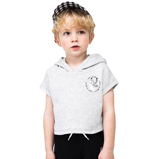 짐보리 (아동)공용 크롭 후드 반팔 티셔츠 GTS2419714