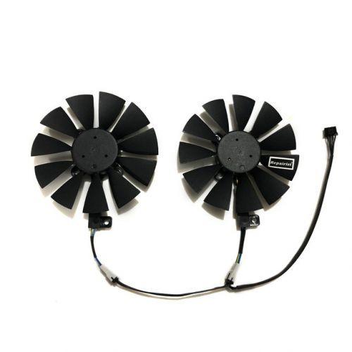 [해외] 2 GTX 1070 1060 VGA GPU 쿨러 그래픽 카드 팬 ASUS GTX1060 GTX1070 듀얼 에디션 비디오 카드 교체 용 냉각, 상세내용표시