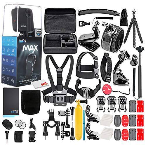 고프로 MAX 360 방수 액션 카메라 -with 50 Piece 악세사리 키트 - 카메라 W, 상세내용참조