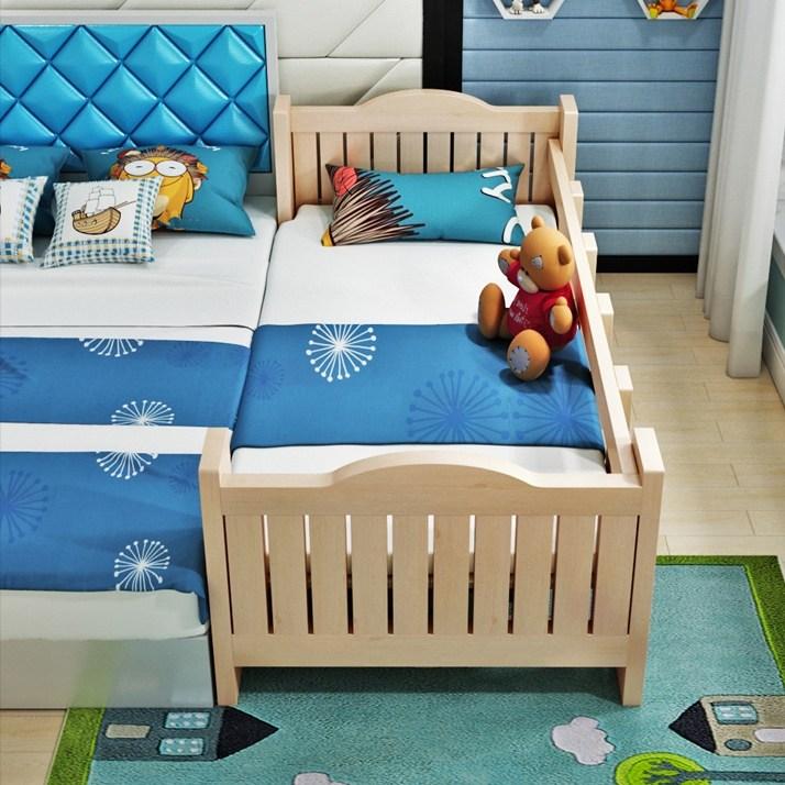 MOLY 아동 원목 삼면 침대 J1510, 옵션B 168*88*40