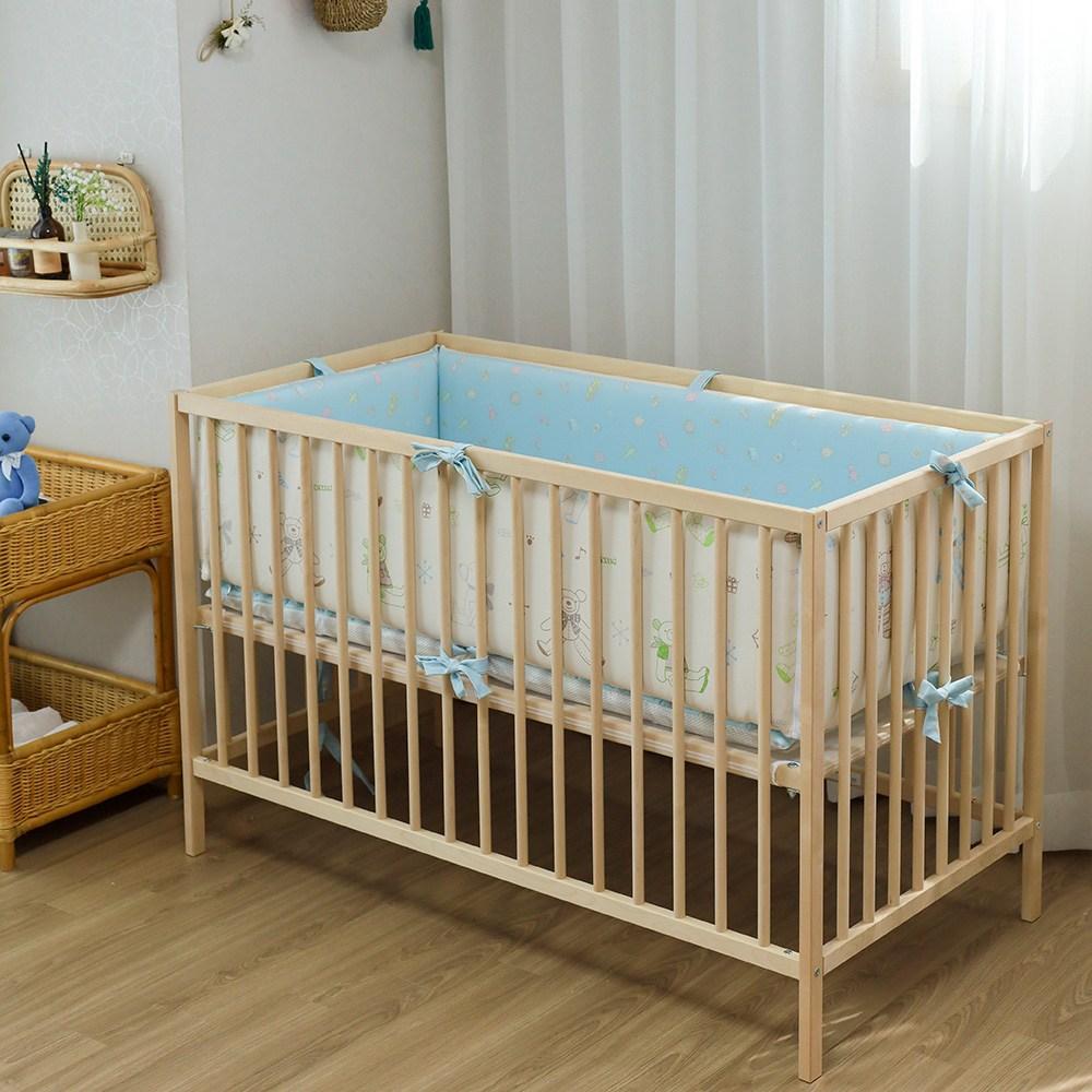 다이노 2in1 범퍼침대 아기침대(맞춤주문제작), 럽베베(블루)