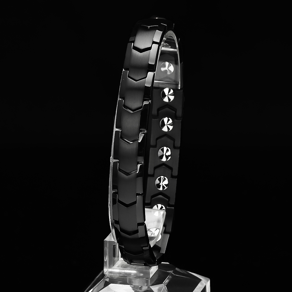 진주모아 99.9998% 쉴드 블랙 남성 게르마늄 건강팔찌 BSHBB-01, 1개