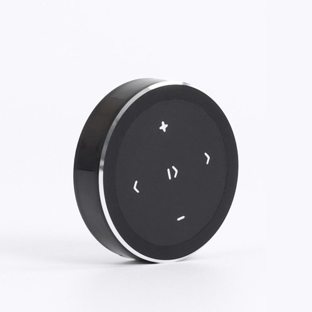 무선 스마트 리모컨 컨트롤러 미디어 스티어링 휠 원격 제어 블루투스 셀카 휴대폰 스마트폰, 블랙 송전지 (POP 5586888633)