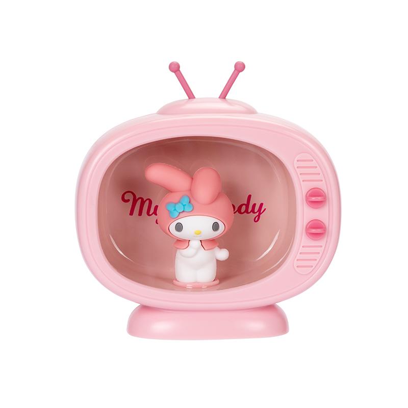 MINISO 산리오 TV 마이멜로디 폼폼푸린 헬로키티 침실 침대 조명 램프, 내 멜로디