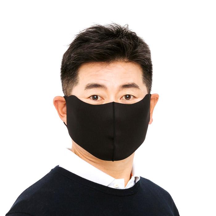 비블럭 프로골퍼 양용은 골프마스크 스포츠 운동용 새부리형 항균 UV 자외선 비말차단 대형 안면 겨울 방한 마스크 개별포장 1매입, 블랙