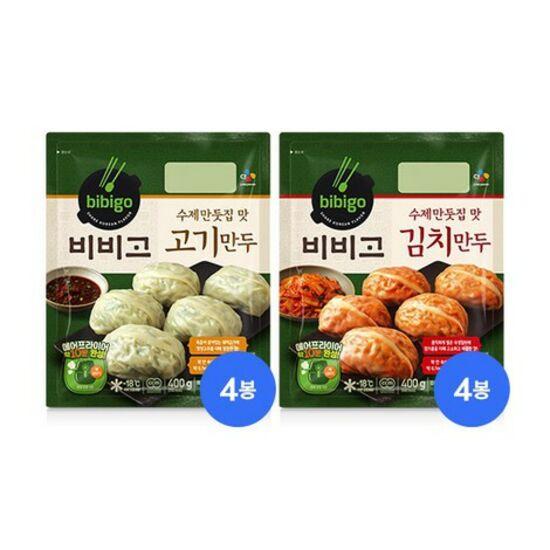 비비고 수제만두400g 고기4봉+김치4봉, 단품