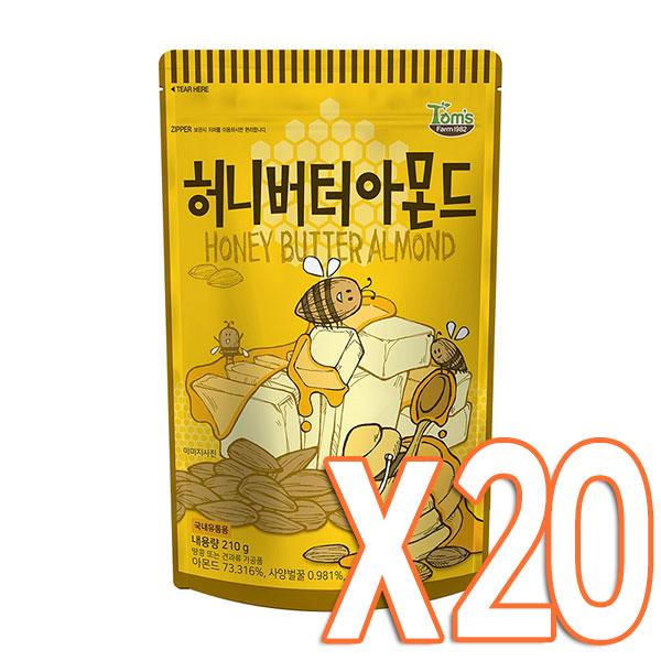 허니버터 아몬드 210g X 20봉 / 무료배송, 단품