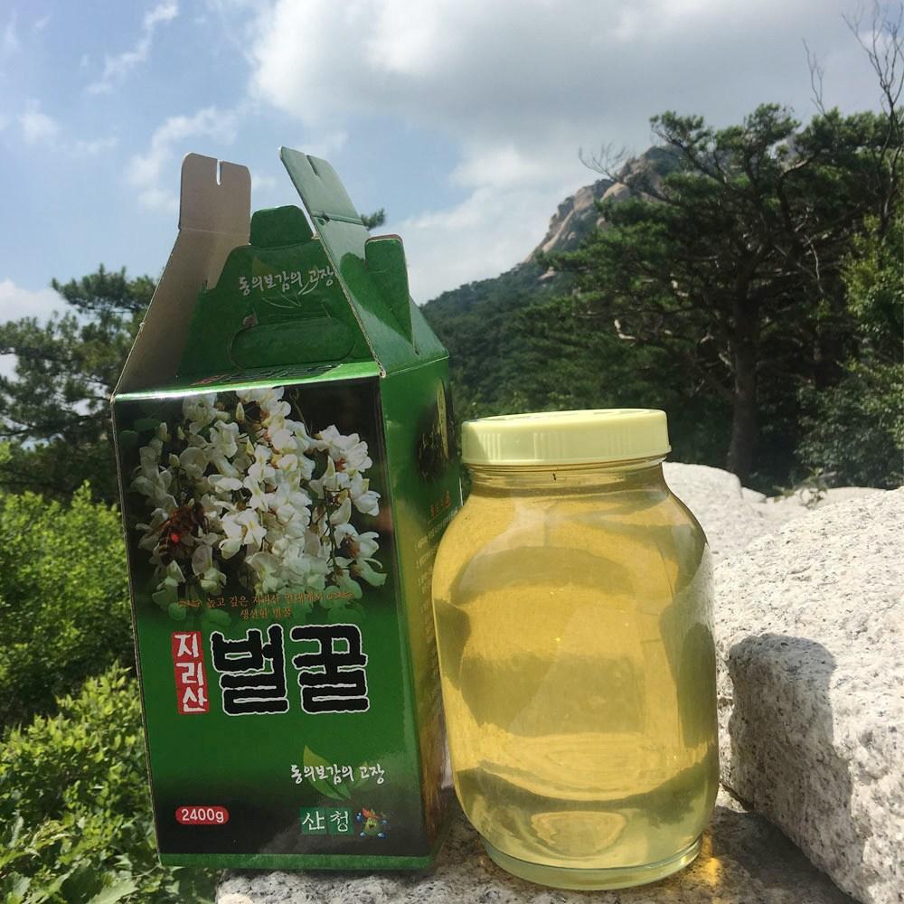 지리산 천연 벌꿀 국내산 자연꿀 토종벌꿀2.4kg, 2.4kg, 1병