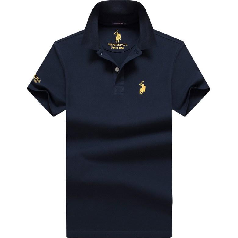 해외 직구 여름 폴로 셔츠 남성 반팔 T 셔츠면 옷깃 단색 반소매 S-6XL 사이즈