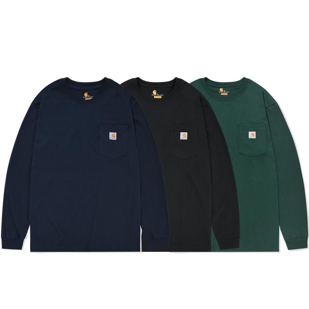 칼하트 K126 포켓 긴팔티셔츠 긴팔 티셔츠