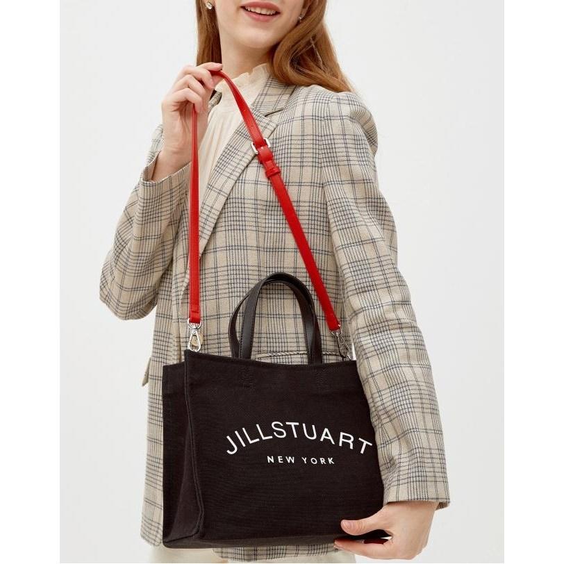 질스튜어트 악세서리 20SS 블랙 JILLSTUART 로고 캔버스 토트백 (M) JABA0E880BK