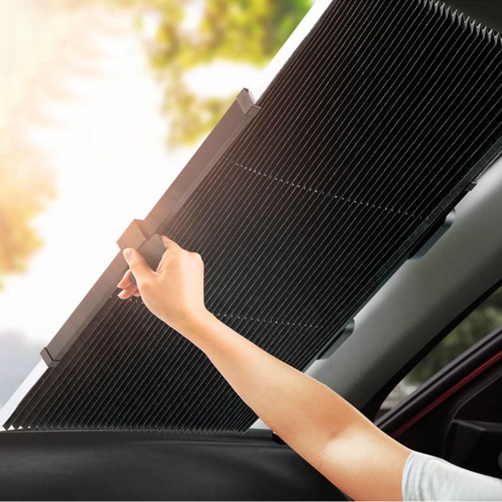 에이링크 원포인트 차량용햇빛가리개 운전석햇빛가리개 블라인드 간편사용 70cm, 1개, [70cm]단일색상