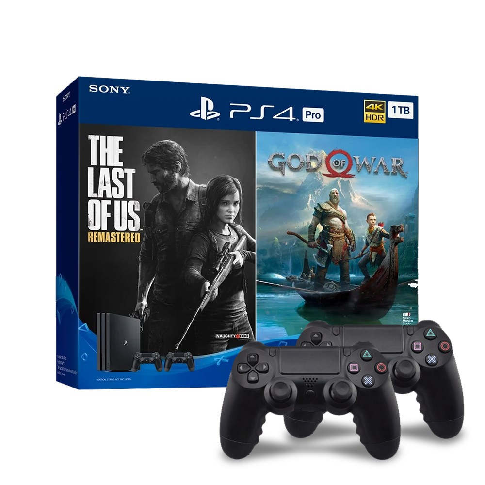 플레이스테이션 (U) PS4 프로 7218 1TB 갓오브워+라오어 듀얼쇼크 추가 2인셋 블랙, PS4 Pro God of War/The Last of Us Remastered 번들