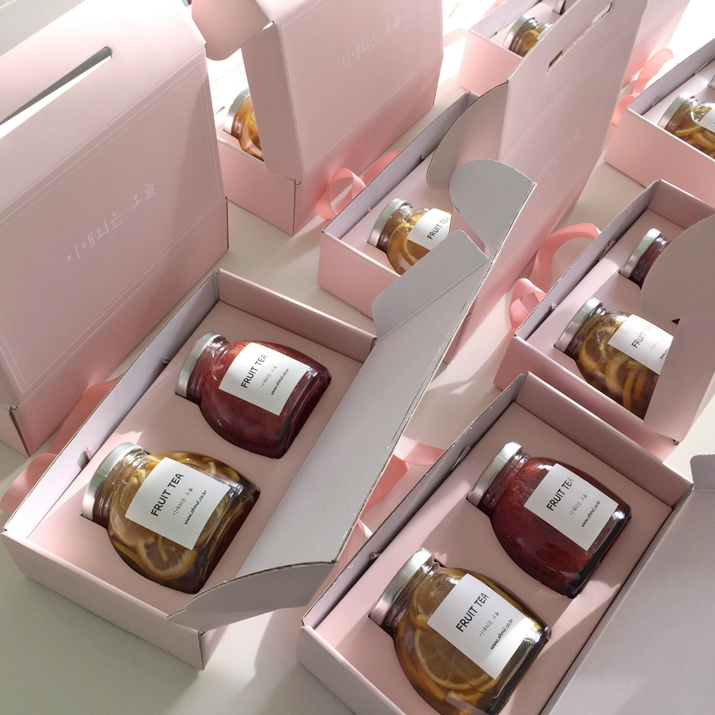 기대되는 오늘 수제과일청 선물세트 레몬청 자몽청 답례품, 1개, 레몬청+자몽청