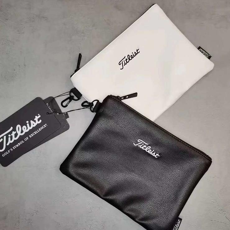 9007 골프 타이틀리스트 신제품 남자 여자 클러치 백 핸드백 볼 가방 지갑 평면 작은 절묘한 파우치, 블랙