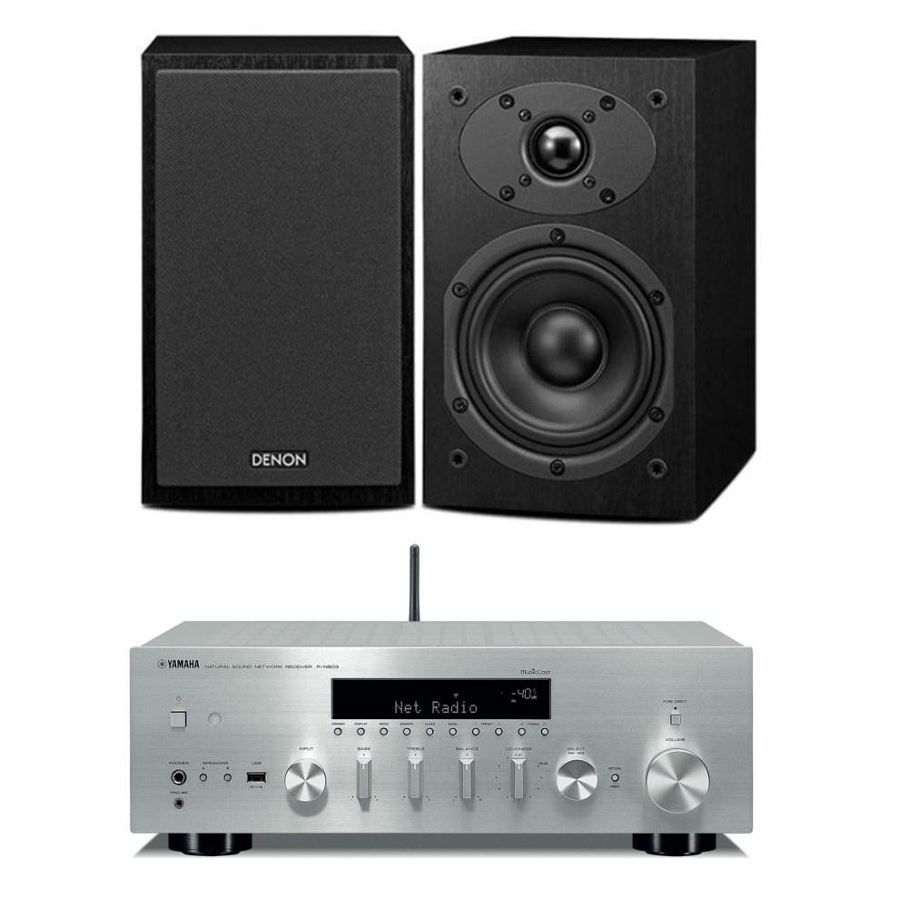 야마하 R-N303+ 데논 SC-M41 하이파이오디오, 스피커(체리)