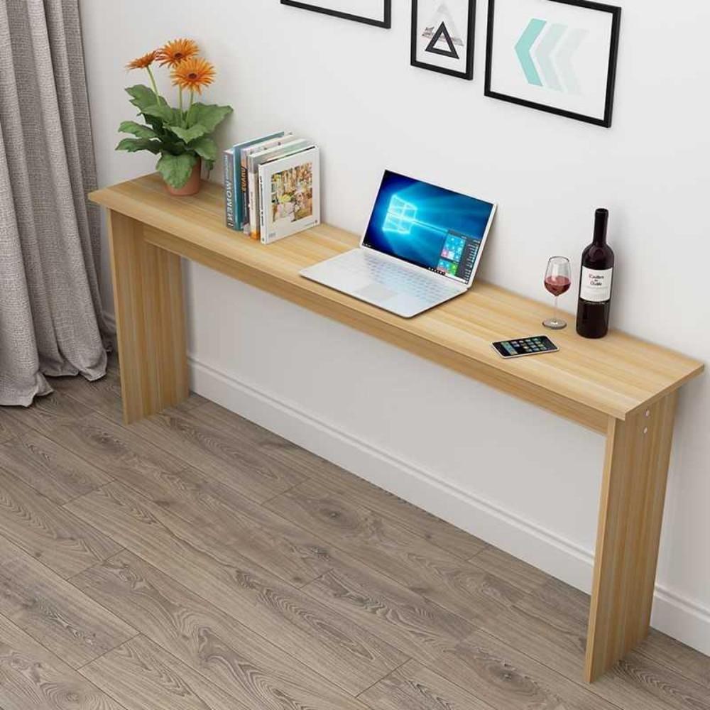 폭 좁은 테이블 쇼파 뒤 긴 슬림 보조 틈새 테이블 책상, 길이60X폭30X높이75(라이트월넛)