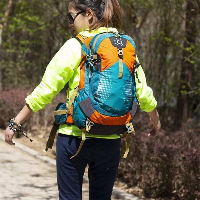 등산 가방 여성 아웃도어 배낭 백팩 전문가용 패킹 시스템 남성 다기능 하이킹 산악 장비 33L, [02] 블랙