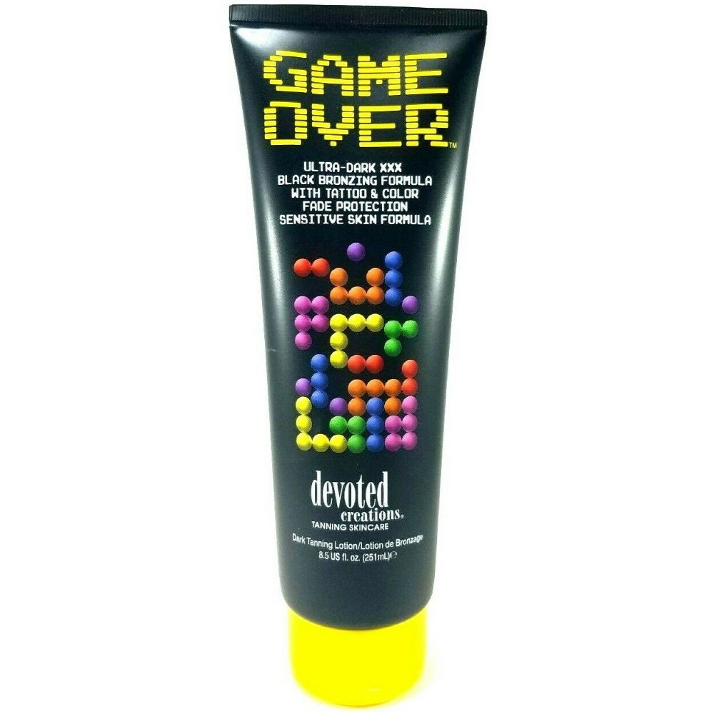 Devoted Creations Game Over 디보티드크리에이션 게임 오버 태닝 로션 울트라 다크 블랙 브론징 8.5oz(251ml)