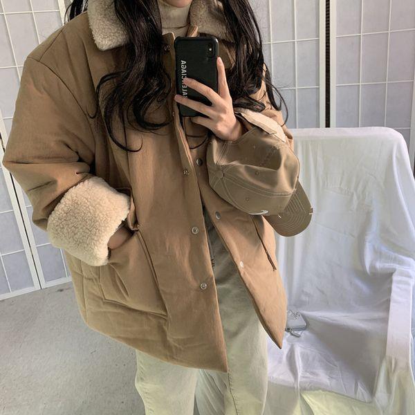 여성 뽀글이 양털 자켓 코트 무스탕 빅사이즈
