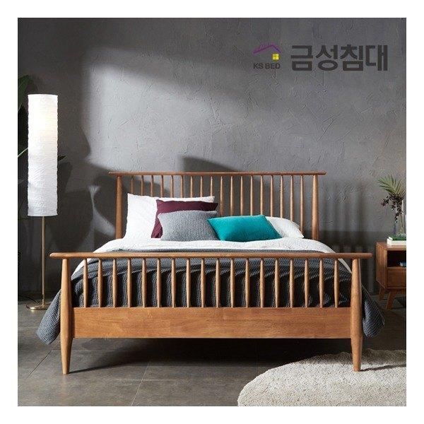 [금성침대] 카일 러버우드 원목침대Q+본넬매트