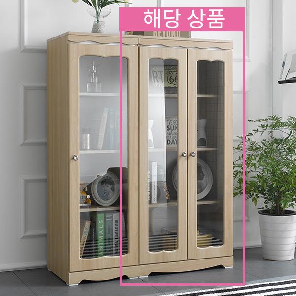 엣지퍼니처 코델 채움 유리 장식장, 아카시아