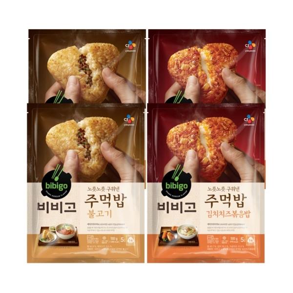 기타 비비고 구운주먹밥불고기 2팩+김치치즈볶음밥 2팩, 단일상품