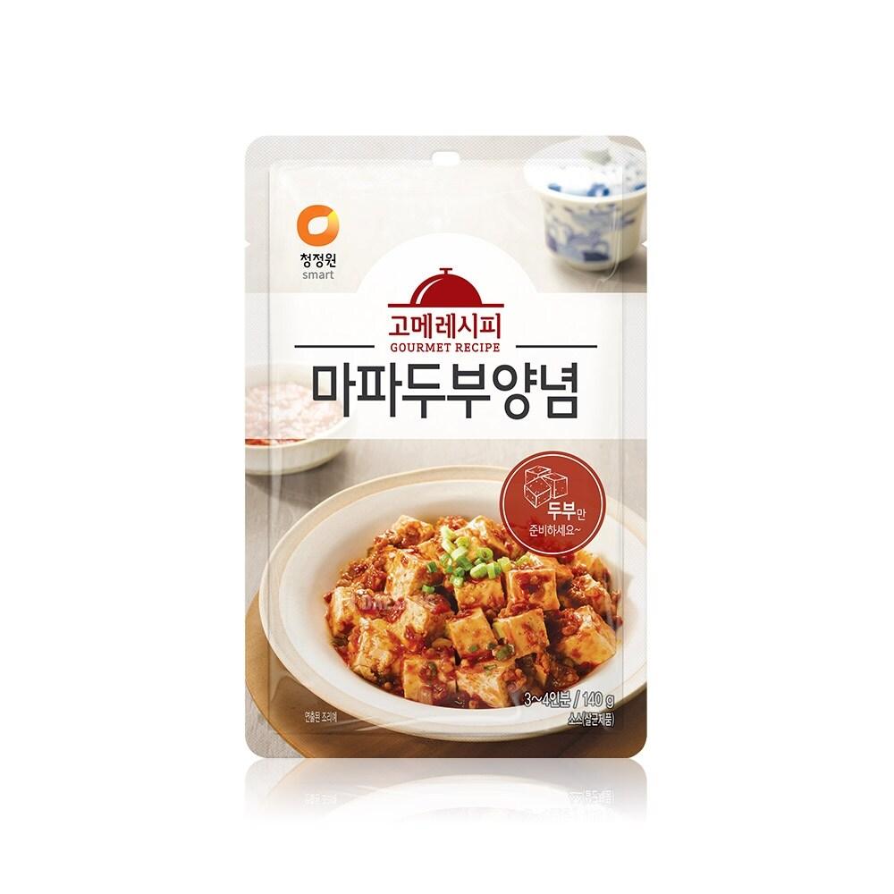 청정원 고메레시피 마파두부양념 140g x 10개