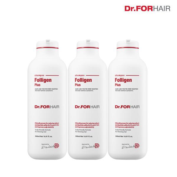 (무료배송)닥터포헤어 폴리젠 플러스샴푸 500mlX3개, 1500ml, 1개, 단일상품