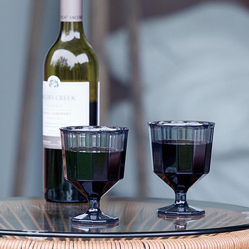 킨토 알프레스코 와인잔 250ml 캠핑용 와인글라스, 스모크