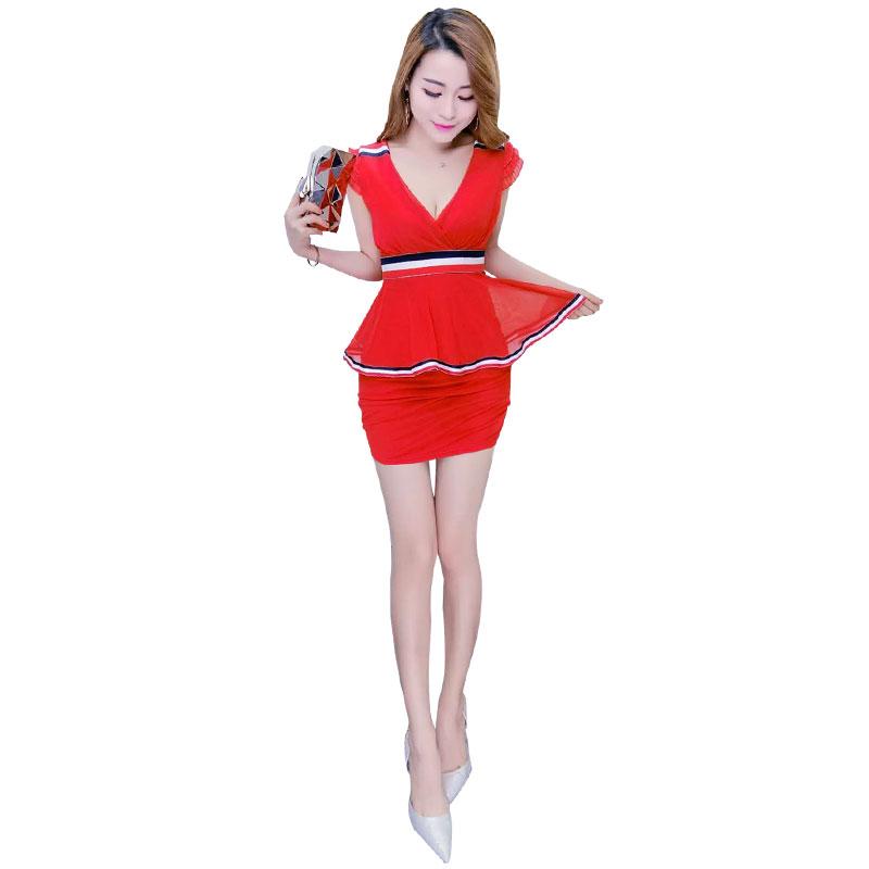 족욕 마사지사복 유니폼 슬림 배가리기 섹시 원피스다 슬림핏 사우나 마사지 스파 카고, S 레드 타입