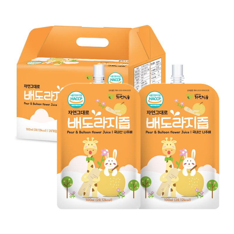 자연식품 아기 배도라지즙 국내산 총30팩, 100ml, 30팩