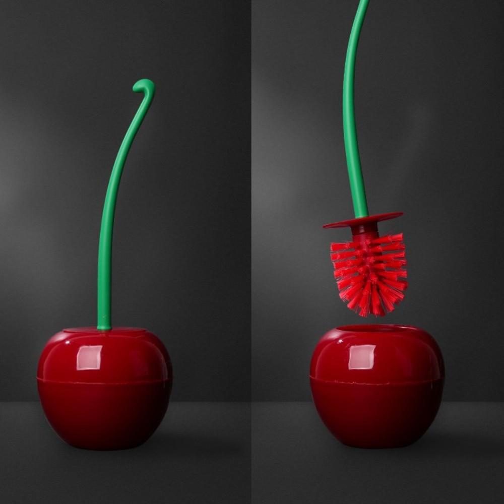 자취 필수템 체리 사과 과일 변기 솔 청소도구, A