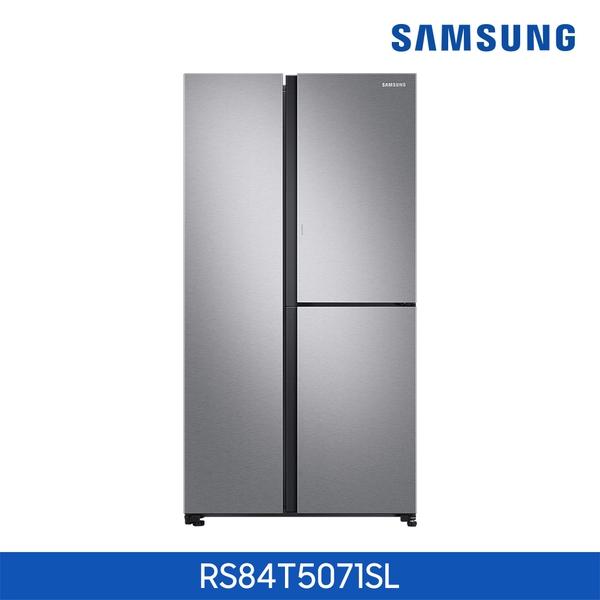 삼성전자 (메탈실버)삼성 양문형 냉장고 3도어 RS84T5071SL, 단일상품