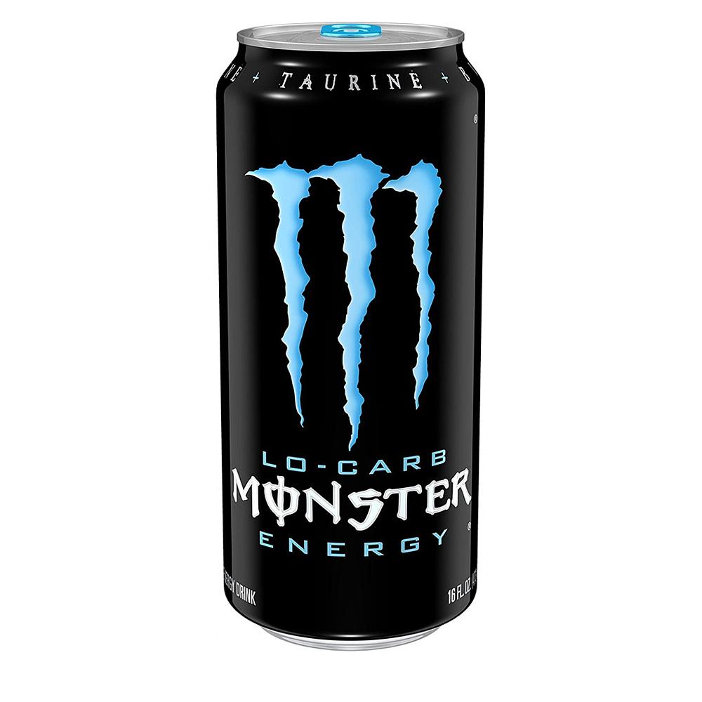 몬스터 Monster Energy Lo Carb 저칼로리 에너지 드링크 16oz(473ml) 24팩, 1개, 1ml
