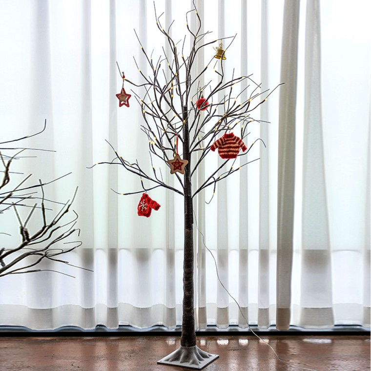 꼬리별_크리스마스 트리 90cm 자작나무 LED일체형 USB타입, 상세페이지 참조