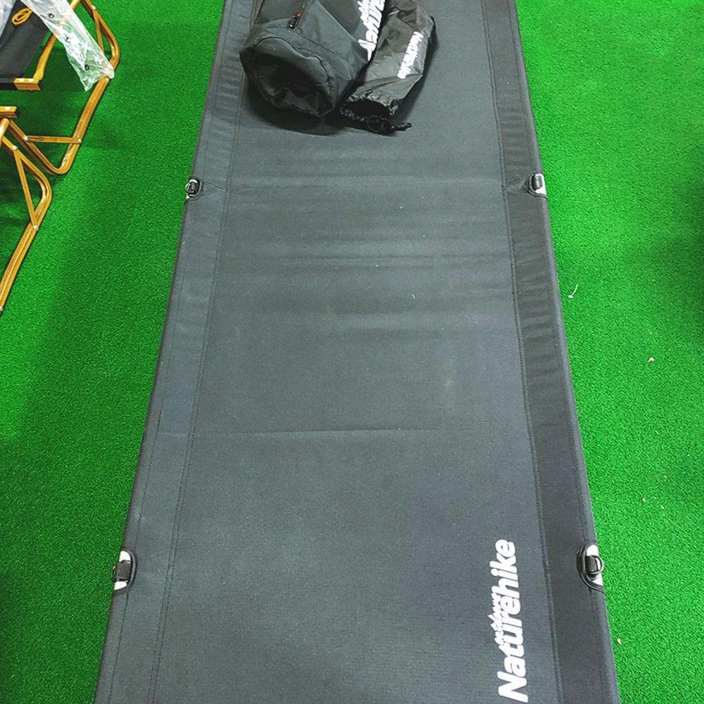 네이처하이크 신형 캠핑베드 초경량 야전침대 NH19JJ006, 블랙
