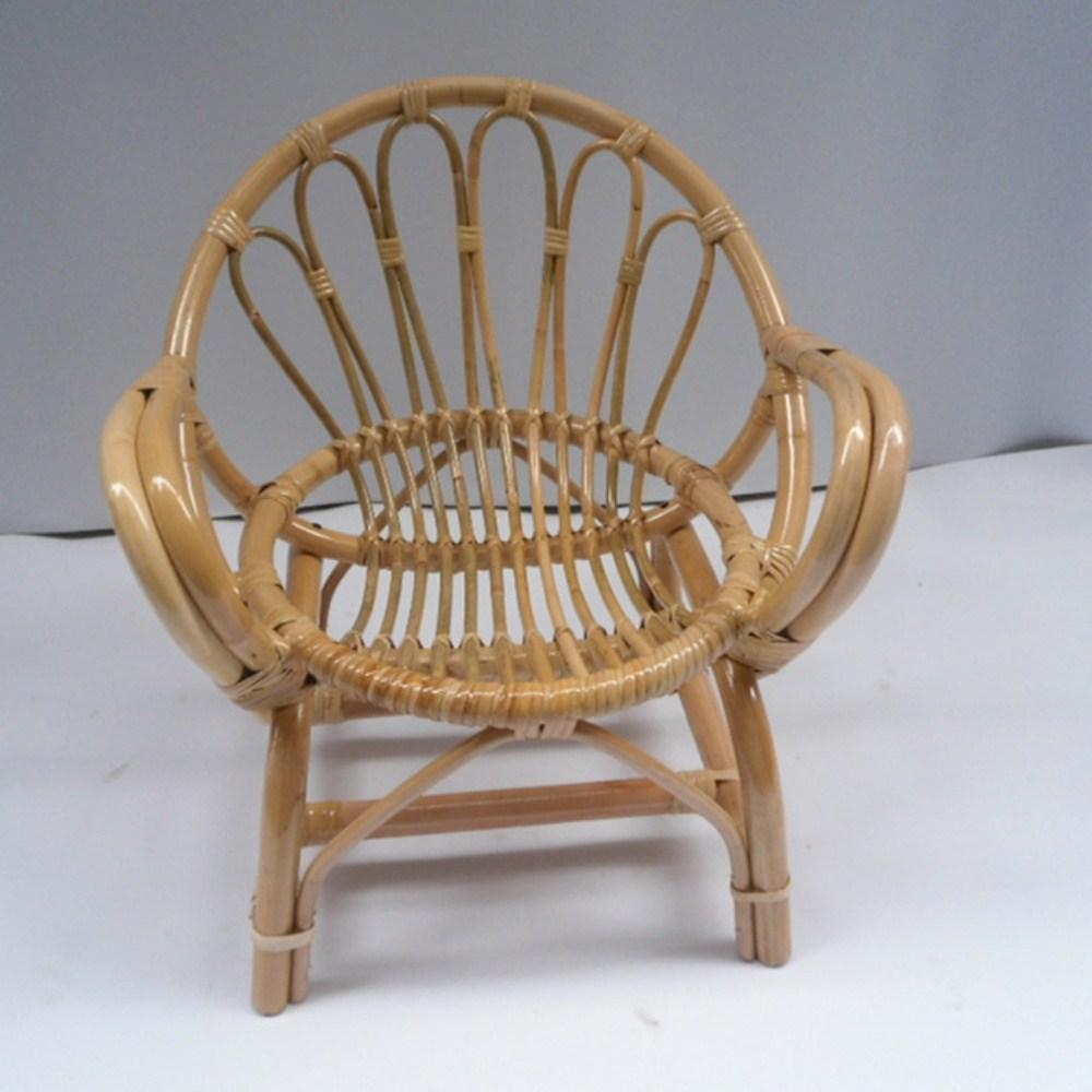 등나무 라탄 스툴의자 유아 키즈 낮은 의자, 단일색상
