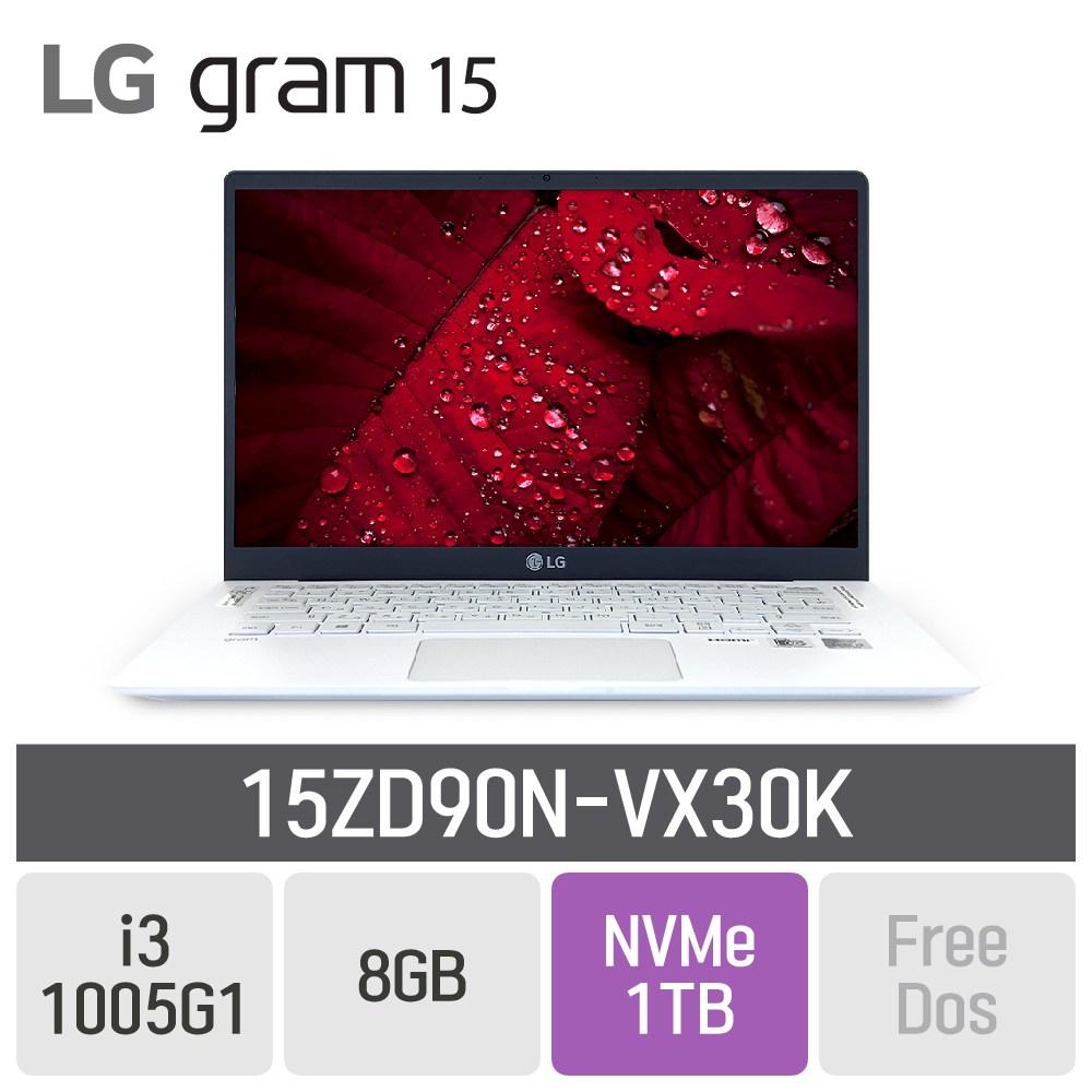 LG 그램15 2020 15ZD90N-VX30K [15ZD90N-VX36K모델로 대체출고됩니다], 8GB, SSD 1TB, 미포함