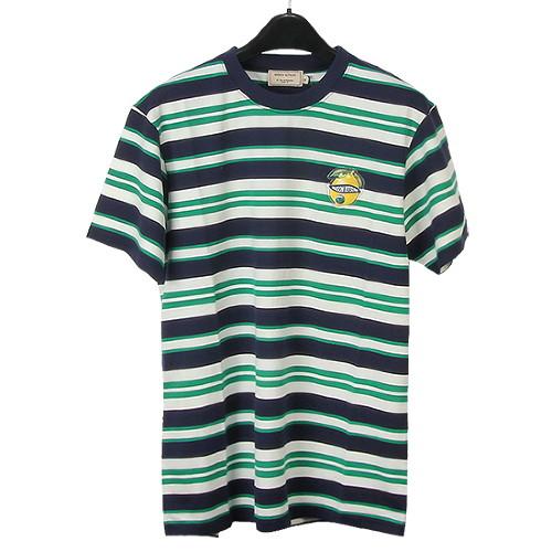 MAISON KITSUNE 메종키츠네 남성 스트라이프 티셔츠 CM001112KJ2003 MULTI [MAC045mu]