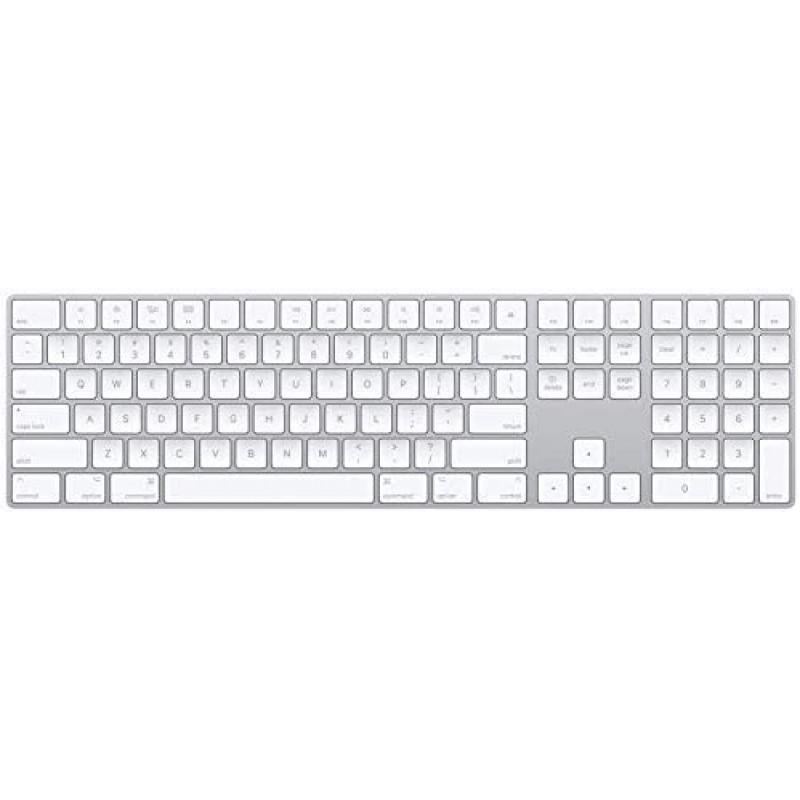 숫자 키패드가있는 Apple Magic Keyboard (무선 충전 가능) (미국 영어)-은, 단일옵션, 단일옵션
