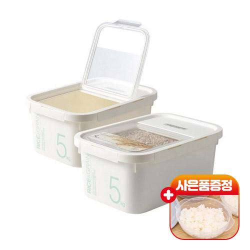 락앤락 쌀통(계량컵+제습제) 2개+전자렌지용기 - 쌀독 잡곡보관함 5KG 10KG 시리얼.밀가루.사료통 라이스키퍼추천