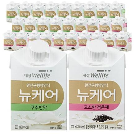 [대상웰라이프] 뉴케어 구수한맛 검은깨맛 아셉틱 200ml x 30팩, 200ml 30팩
