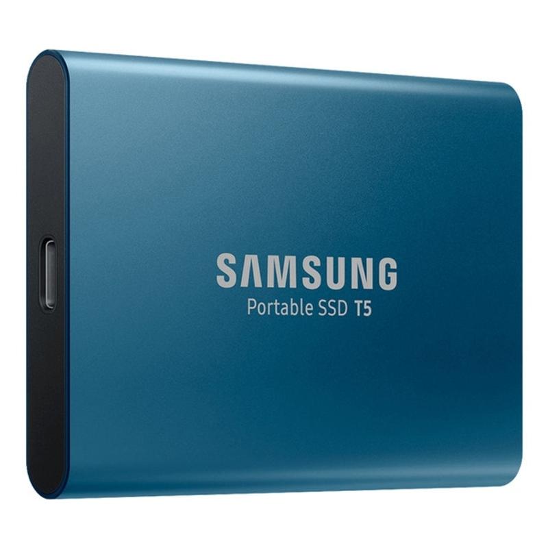 SSD 외장 삼성 T5 휴대용 SSD 250GB 500GB 1TB 2TB USB3.1 외장형 솔리드 스테이트 드라이브 USB 3.1 Gen2 및 PC와 역 호환, 푸른 (POP 5686437236)