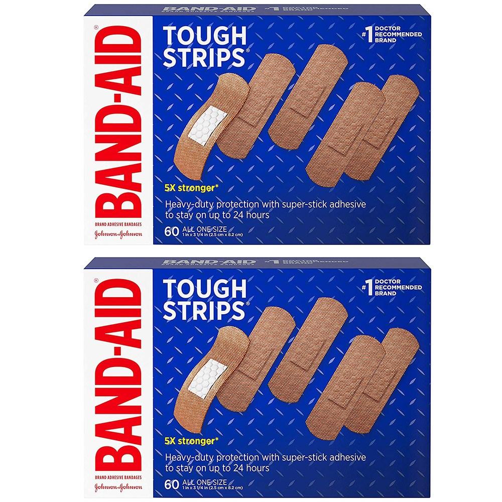밴드 에이드 터프 스트립스 상처밴드 60개입 2팩 (POP 5254137341)