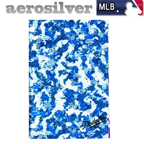 MLB 에어로실버 멀티스카프 냉감소재, 크롬:블루